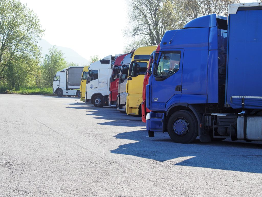 Truck parking area - SDAG Safe and secure truck parking